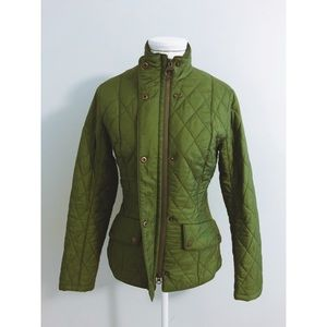 Gorgeous green Barbour Cavalry quilted jacket.